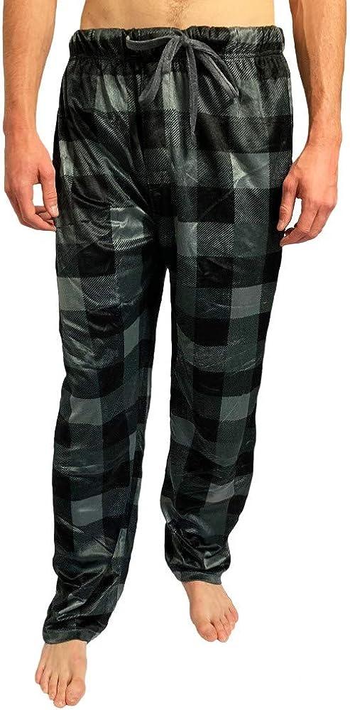 Bottoms Out Comfortable Jogger Sweatpants Mink Fleece Pajama Bottoms Sweats Sleep PJ Lounge Pants for Men
