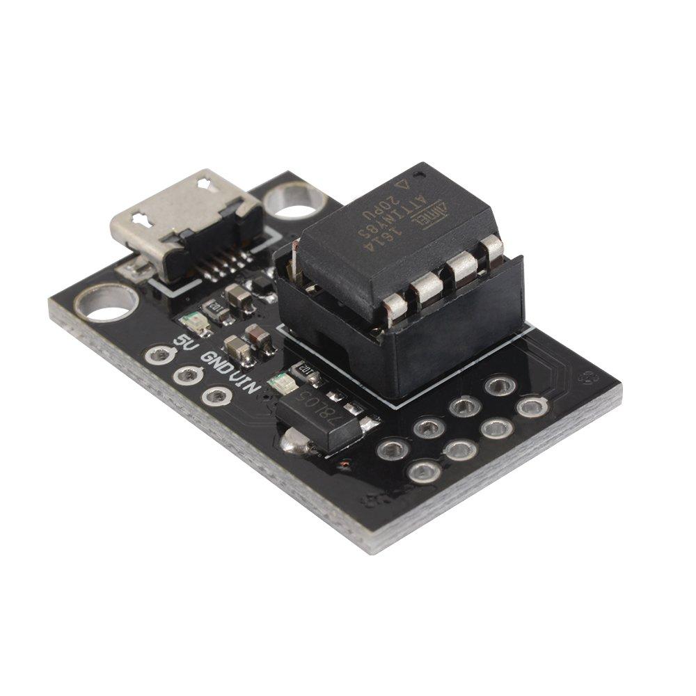 ATtiny25 ATtiny45 ATtiny85 TE769 XCSOURCE Scheda IC di chip ATtiny85-20PU DIP-8 MCU Scheda programmatore per sviluppo micro USB con pinze fai da te sviluppo ATtiny13A