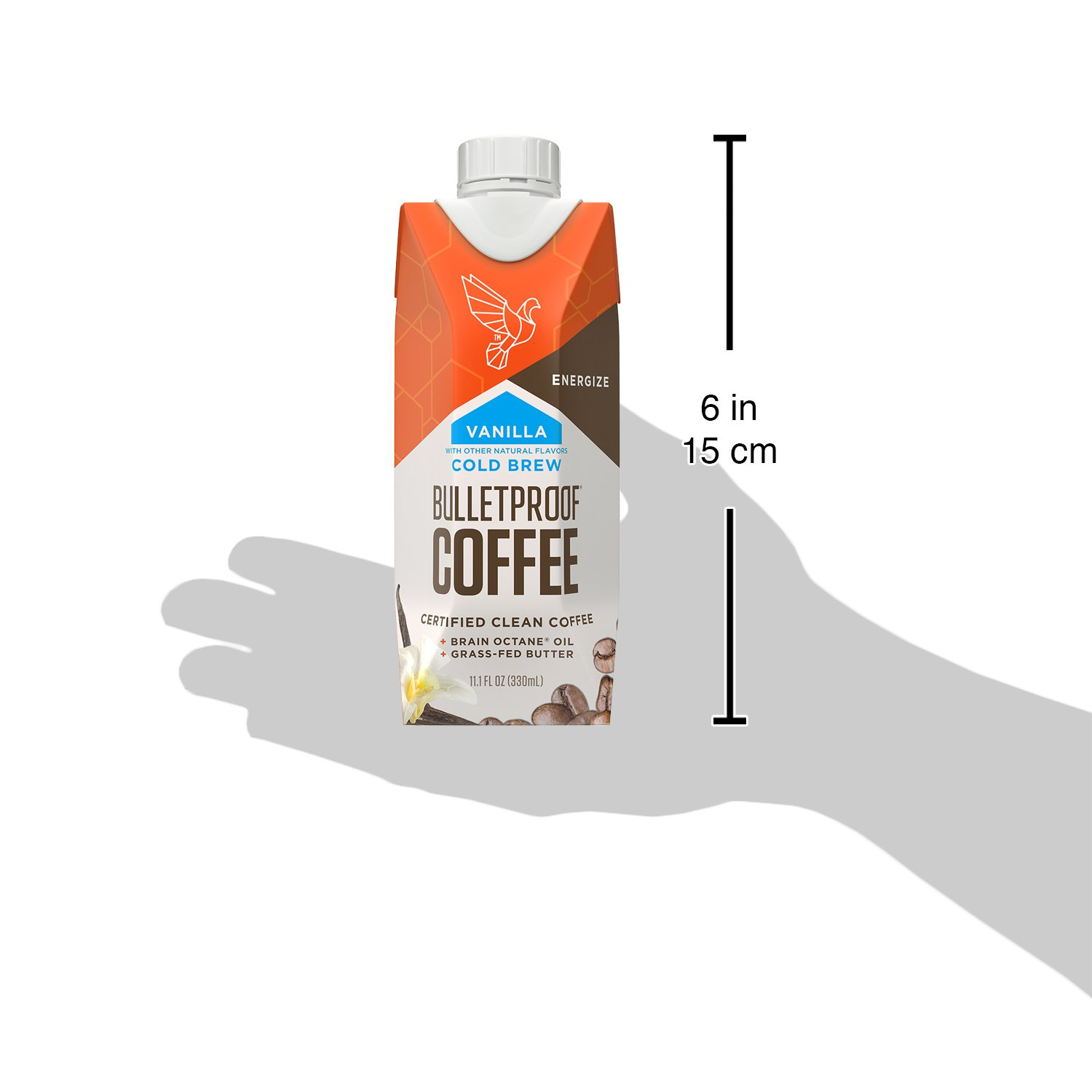 Bulletproof Coffee Cold Brew Ready To Drink- Ketogentic Diet, Sugar-Free, Includes Grass-Fed Butter and Brain Octane Oil, Vanilla (12 Pack) by Bulletproof (Image #4)