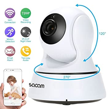 WiFi Camera, SACAM Wireless IP Camera 720P WiFi Security Camera