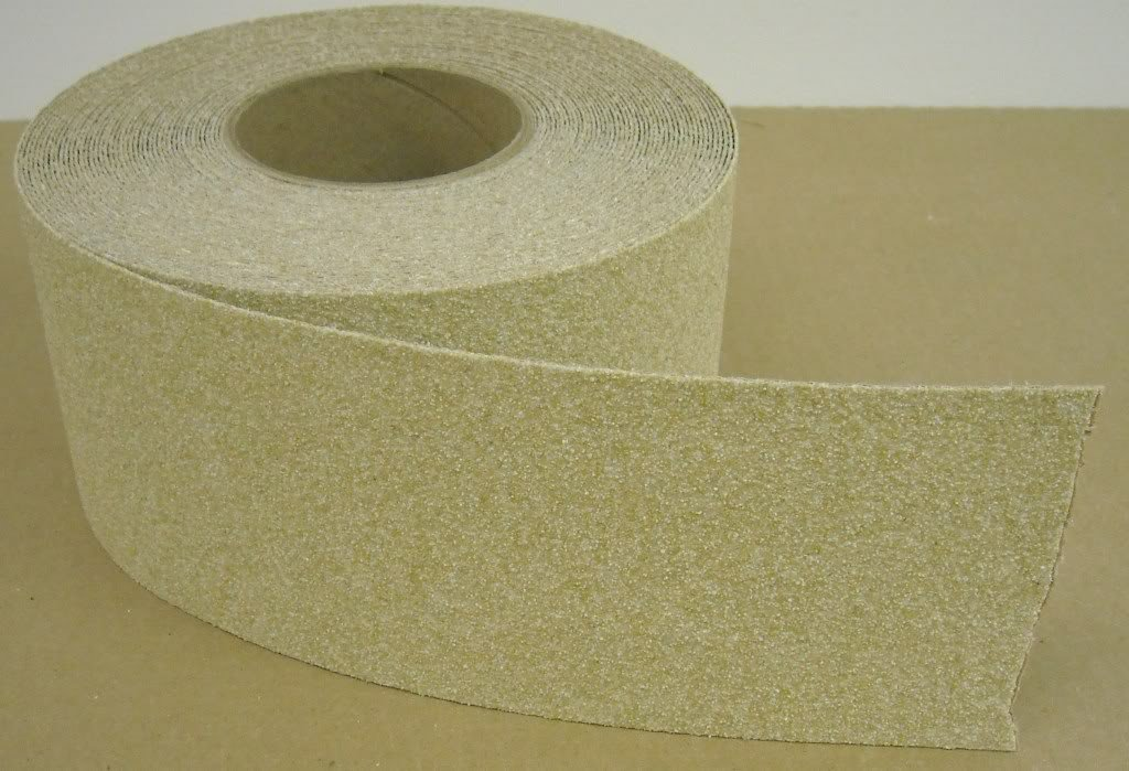 Safe Way Traction 2'' x 12' Roll BEIGE Abrasive Anti Slip Tape Non Skid Safety Tape Made in the USA