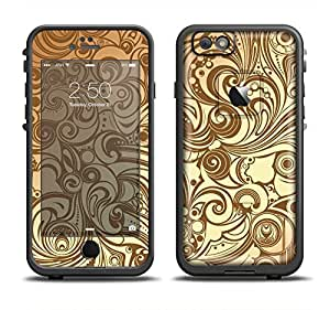 The Vintage Antique Gold Vector Pattern Skin Set for the Apple iPhone 6 LifeProof Fre Case (Skin Only)