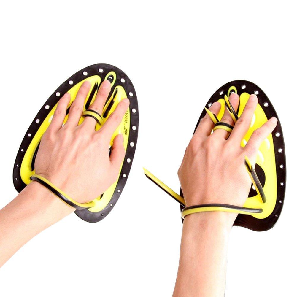 Amazon.com : Swim & Fitness Paddle Swim Training Paddles Swimming Hand Paddles, L, Yellow : Sports & Outdoors