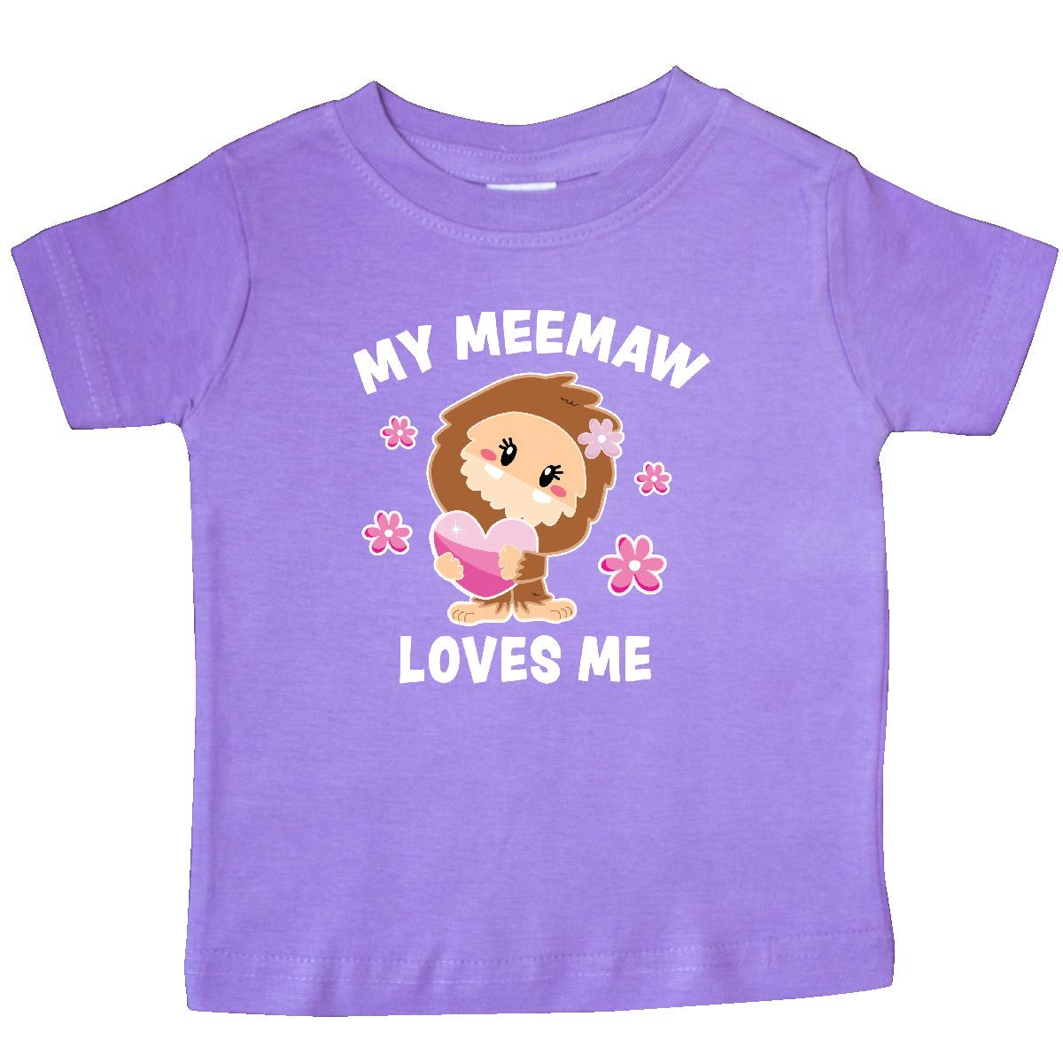 inktastic My Meemaw Loves Me with Bigfoot Baby T-Shirt
