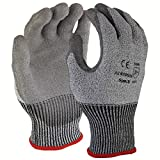 Azusa Safety N10590 HPPE Cut Resistant CR Safety Work Glove, Polyurethan PU Coated, X-Large, Gray