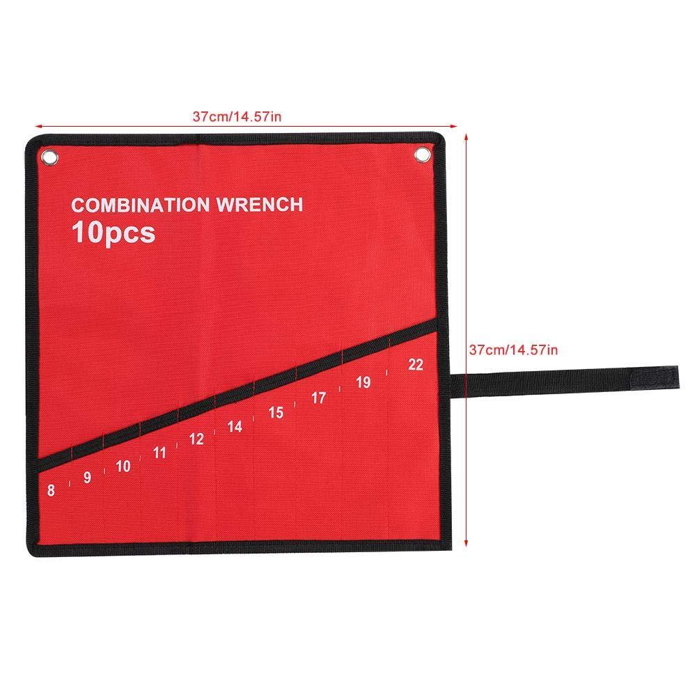 6 Pockets GLOGLOW Roll Up Tools Bag Pochette de Voyage Multi-Poches Roll Up Tools Sac de Rangement Cl/é Pince Cl/é Porte-Toile Organisateur