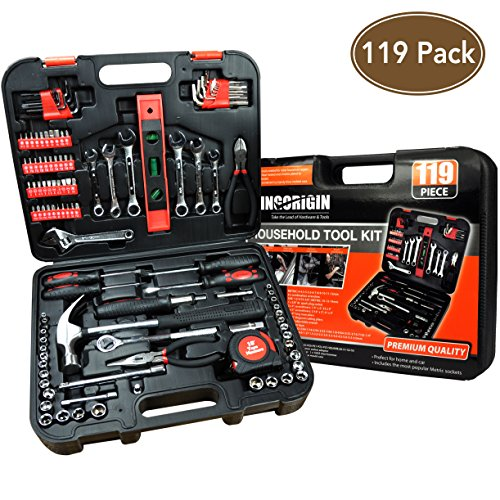 119Piece Heavy Duty Professional Home Repair Tool Kits,home tool kit,home repair tools,Multi Tools Set, Homeowner Tool Kits, Tool Sets,Kit,tool kit,tool set,home tool kit,tools by The More The Better