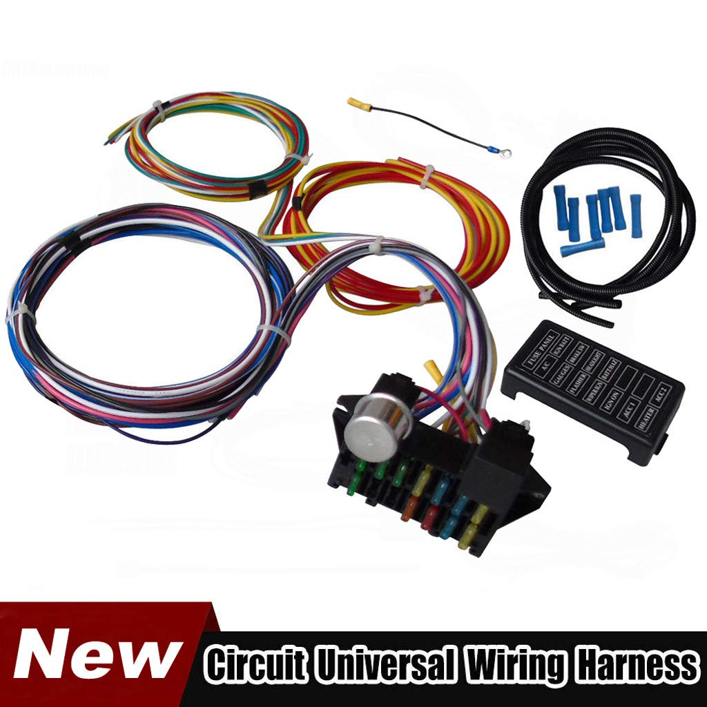 amazon com bouanq 12 circuit wiring wire harness kit, gm color 700R4 Wiring Harness