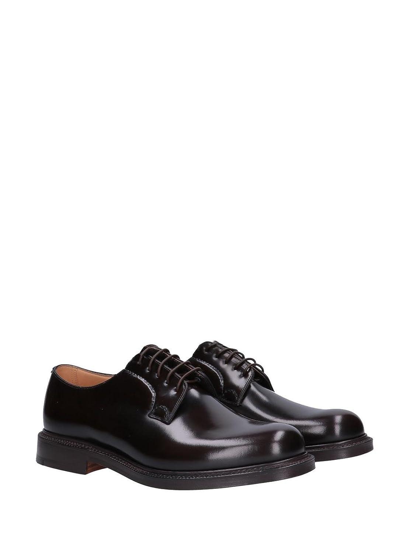 CHURCH'S Mod. SHANNON-EEB001-9XV Zapatos Derby Cuero Hombre Marrón