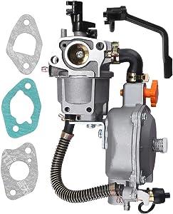 Saihisday 170F Dual Fuel Carburetor LPG/NG Conversion Kit for Portable Gasoline Generator GX200 6.5HP 7.5HP