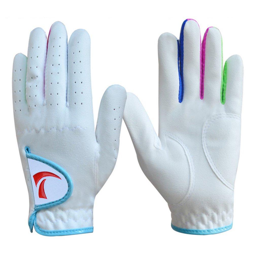 aodewゴルフ手袋for Kids Youth幼児用男の子女の子フィットネススポーツ手袋1ペア 14# ホワイトブルー B07DQJPTHF