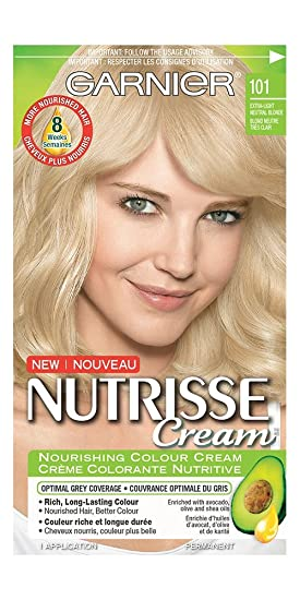 Garnier Nutrisse Cream Hair Color in 101 Extra-Light Neutral Blond ...