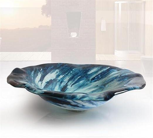 FFJTS Lavabo de salle de bain bleu ciel - Vasque d\'art en ...
