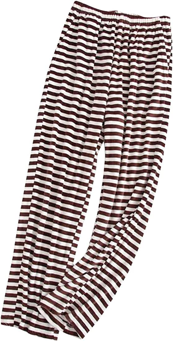 Pluszing Womens Stripe Lounge Flannel Soft Comfort Sleepwear Pajama Pants
