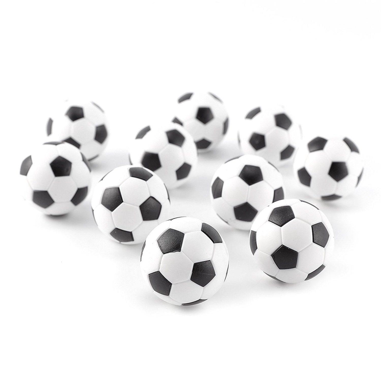 SODIAL Balles de table balle de rechange baby-foot en plastique remplacement de ballons de soccer table football foosball plaisir jeu de cafe bar- 31mm - 10 pieces 144073
