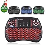 EARME iPazzport 21S 2.4GHZ RGB Backlit Mini wireless keyboard with Mouse Touchpad and Remote control for PS4,PC, Xbox 360, Android TV Box, smart TV