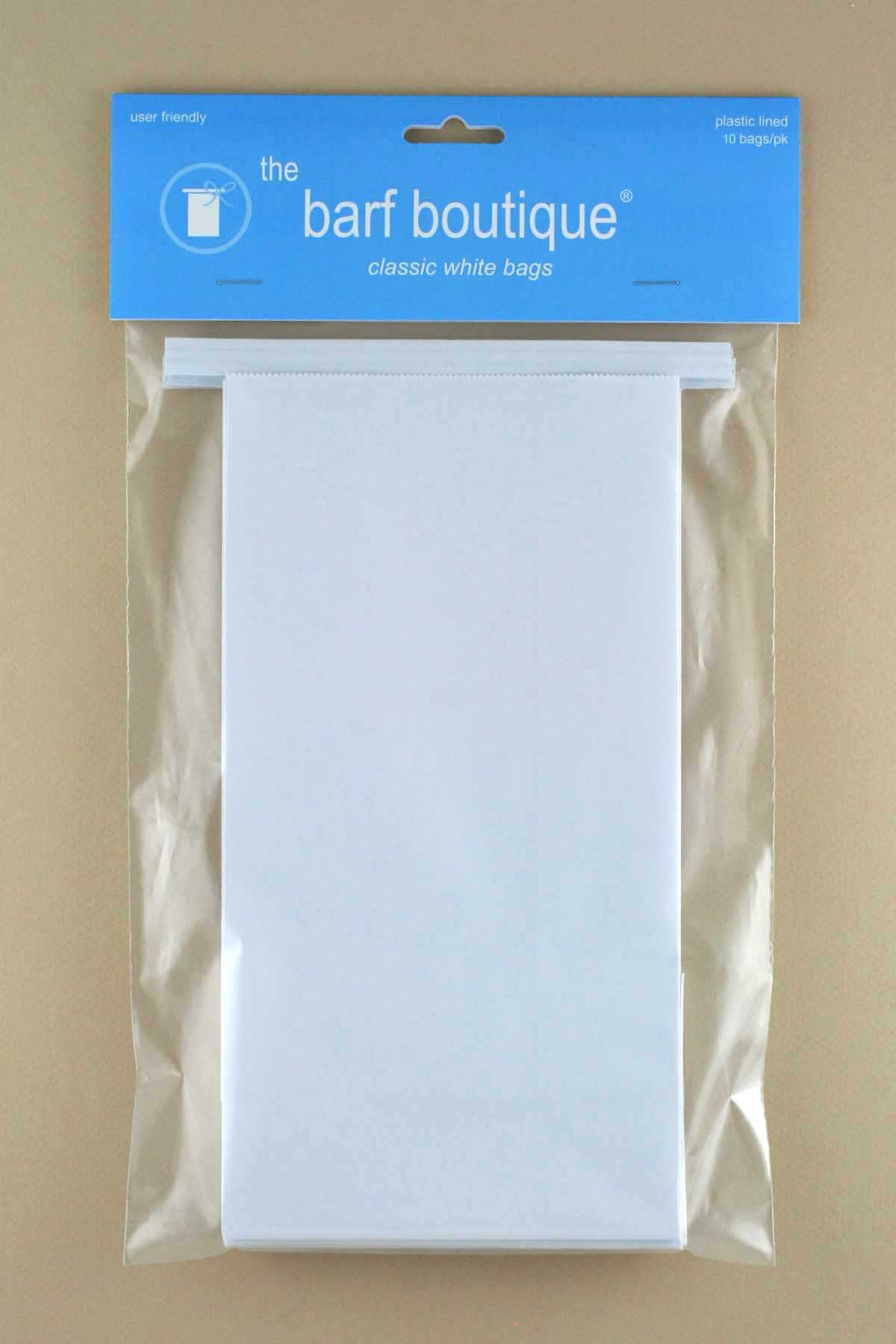 Classic White Vomit/Barf Bags - Travel Motion & Morning Sickness Bags (10/Pk)
