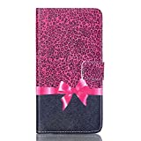 S6 edge PLUS Case, S6 edge+ Case, Firefish Fashion Folio Style Magnetic PU Leather Stand Case Flip Protective Cover Built in Card Slots for Samsung S6 Edge PLUS / S6 edge+ (Not for S6 edge) -Bowknot