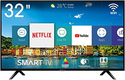 Hisense H32BE5500, Smart Tv, 1, Negro [Clase de eficiencia energética A+]: Amazon.es: Electrónica
