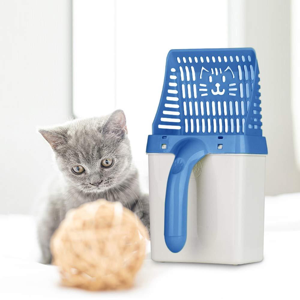 ASHOP Pala de Arena para Gatos, Sistema de Filtro de procesador de Caca de Mascotas/Litter Scoop Sifter Deep Shovel for Pets, Dog, Cat + 15 x Bolsa de ...