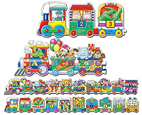 The Learning Journey Puzzle Doubles, Giant ABC & 123 Train Floor Puzzles (And The Winner Is Jigsaw Puzzle)