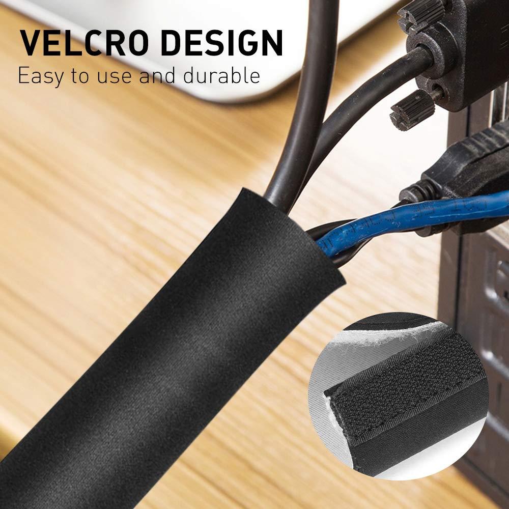 125*13.5cm Neopren Kabelkanal Schlauch mit Klettverschluss Kabel Management NEU