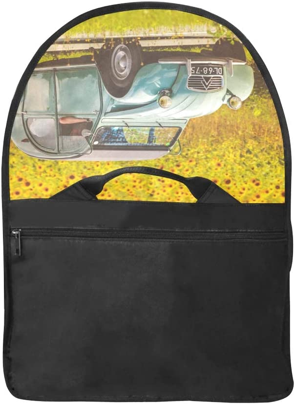 Laptop Briefcase Bag an Old Classic Camper Van Multi-Functional Laptop Bag for Women Fit for 15 Inch Computer Notebook MacBook
