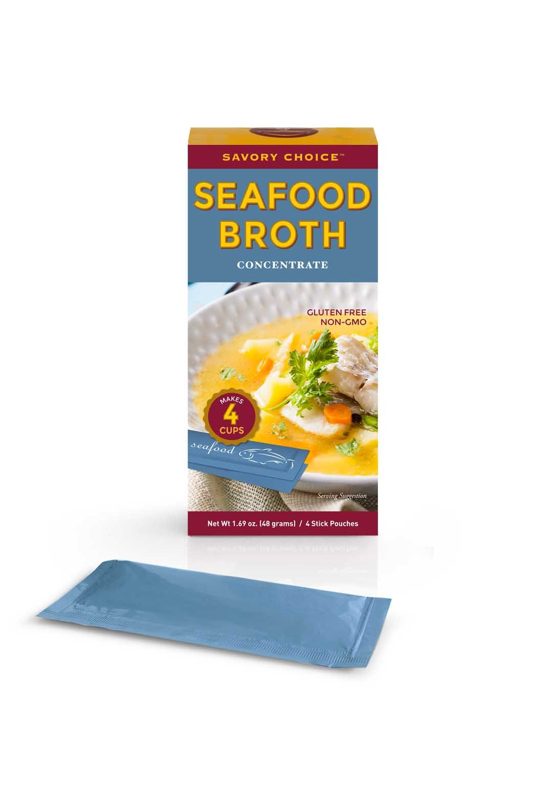 Savory Choice Seafood Broth Concentrate, Safood, 1.69 Ounce (Pack of 12)