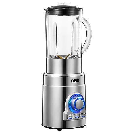 Deik Batidora de Vaso, 1000W Batidora para Smoothie, 15 Velocidades y 3 Programas(24,000 RPM, sin BPA), 1,8 L, Cuchillas de Precisión de Acero ...