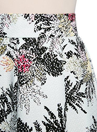 oodji Collection Mujer Falda Midi con Pliegues Multicolor (7047F)
