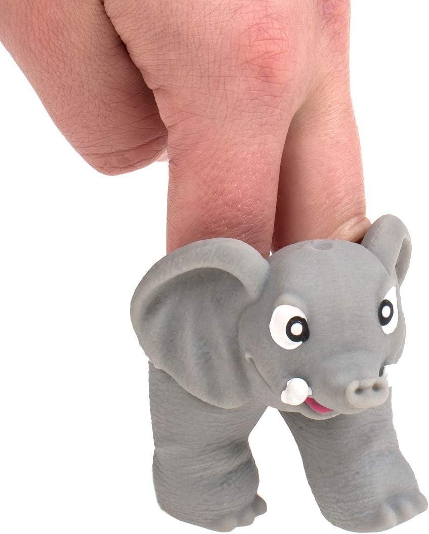 MIK Funshopping 3-TLG Set Fingerpuppen aus weichem Silikon Dschungel-Tiere Jungle L/öwe Elefant AFFE ca 7 cm gro/ß