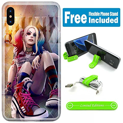 [Ashley Cases] Apple iPhone X Cover Case Skin with Flexible Phone Stand - Suicide Squad Harley Quinn Shoes V]()