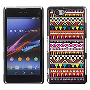 Graphic4You COLORFUL TRIBAL PATTERN HARD CASE COVER FOR Sony Xperia Z1 Compact (Mini)