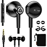 LUDOS SPECTA Wired Earbuds in-Ear Headphones, Universal Microphone for Clear Calls, Strong Bass, Sound-Dynamic, Noise Isolati