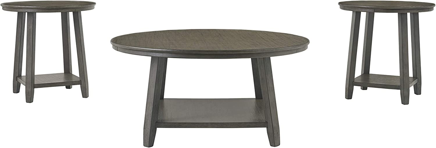 Signature Design by Ashley - Caitbrook Occasional 3-Piece Wooden Table Set, Dark Gray