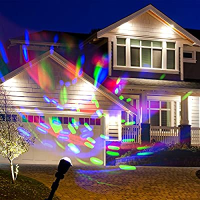 WED Laser Rotating Kaleidoscope Light Projectors, Waterproof Christmas Landscape Spotlight Projection LED Light Show for Indoor, Outdoor, Home, Garden, Wall, Party, Holiday Decoration
