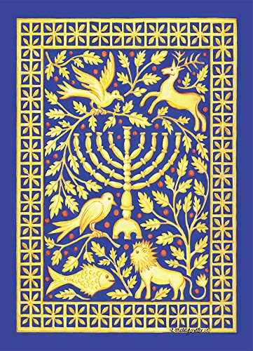 Tree-Free Greetings EcoNotes 12-Count Hanukah Card Set with Envelopes, 4