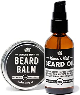 product image for Beard Balm + Beard Oil Pump Set - Miner's Mint - All Natural, Hand Crafted in USA