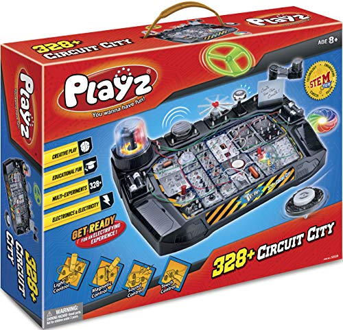 - Playz Advanced Electronic Circuit Board Engineering Toy for Kids | 328+ Educational Experiments to Wire & Build Smart Connections Using Creative Knowledge of Electricity | Science Gift for Children
