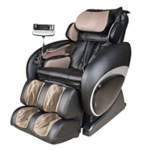 Osaki OS-4000 Black-Beige Zero Gravity Shiatsu Massage Chair with 200 Dollar Coupon