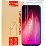 [2-Pack] PULEN Screen Protector for Xiaomi Redmi Note 7 and Xiaomi Redmi Note 8,HD Clear Scratch Resistance Bubble Free 9H Ha