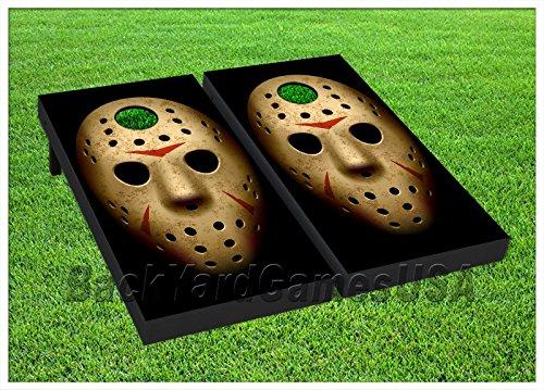 Jason Hockey Mask Cornhole Boards BEANBAG TOSS GAME w Bags Set 461
