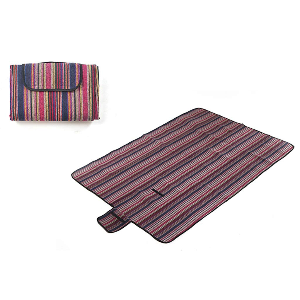 NLXTXQC Outdoor Picnic Blanket Waterproof Portable Folding Leisure Cushion Polyester Cotton Pearl Cotton Picnic Cloth Bottom (Color : A) by NLXTXQC