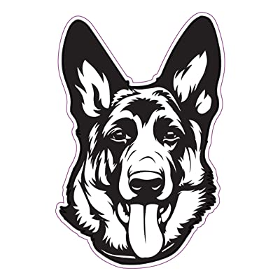 WickedGoodz German Shepherd Decal - Dog Breed Bumper Sticker - Perfect Shepherd Dog Owner Gift: Automotive