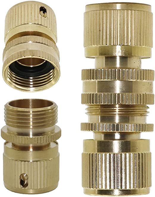 "Brass Quick Disconnect Coupler 1//4/"" Female Threads Plastic Casing."