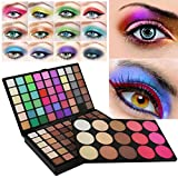 Enjocho 123 Colors Cosmetic Matte Eyeshadow Powder Eye Shadow Makeup Palette Shimmer Set (Black)