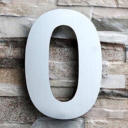 GRAND 20.3 Centim/ètre Acier inoxydable bross/é Num/éro 1 Une Aspect flottant facile /à installer et fait de solides 304 QT Num/éro de Maison Moderne