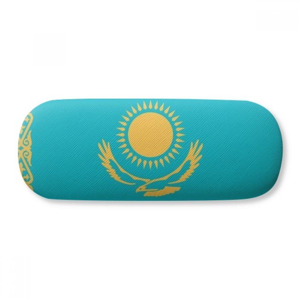 Kazakhstan National Flag Asia Country Glasses Case Eyeglasses Clam Shell Holder Storage Box