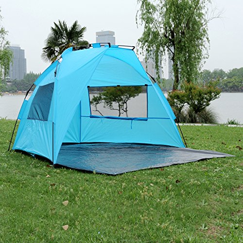 ShinyFunny Easy Pop Up Beach Tent Instant Sun Shelter Portable Half C&ing Tent with Carry Bag : easy beach tent - memphite.com