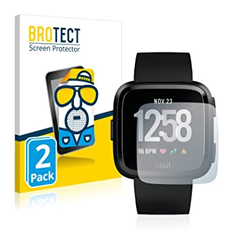 brotect Protector Pantalla Anti-Reflejos Compatible con Fitbit Versa/Lite/Special Edition (2 Unidades) Pelicula Mate Anti-Huellas